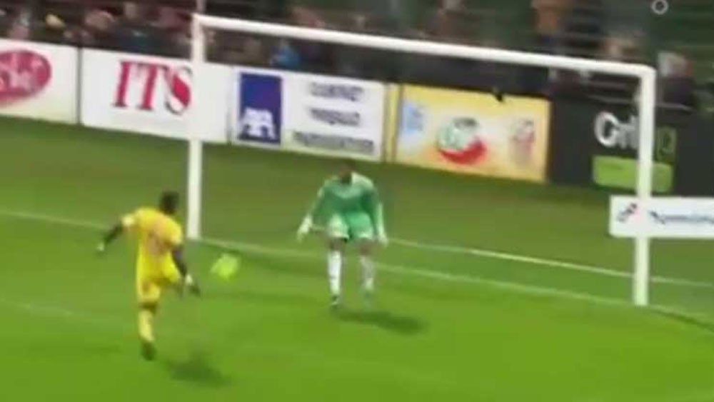 French footballer drills unnecessary own goal