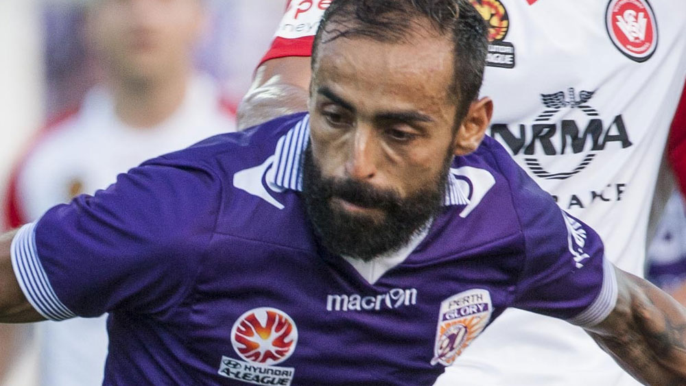 Glory star Diego Castro is facing time of the sidelines. (AAP)