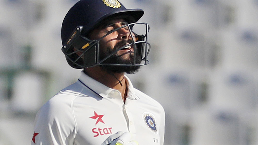 Ravindra Jadeja has helped put India into a strong position against England. (AAP)