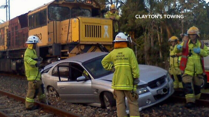 Delays continue after cattle train smashes into stolen car in Landsborough