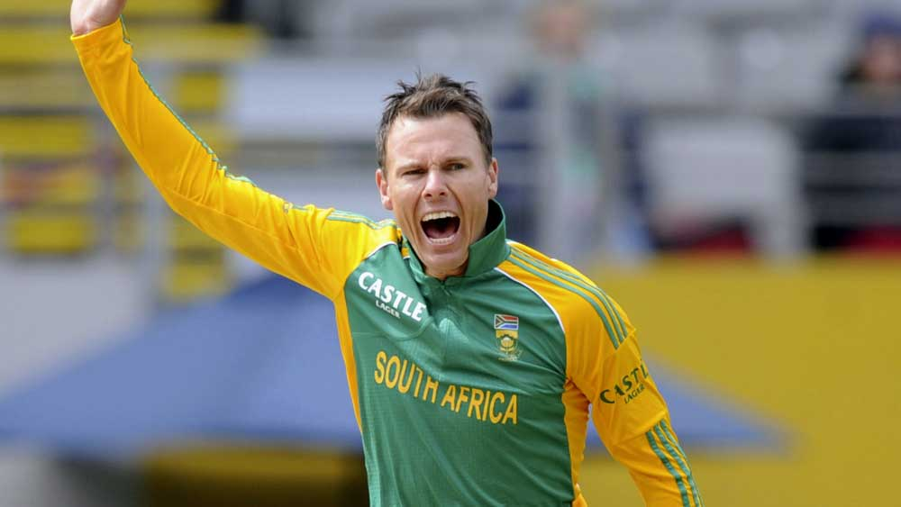 Johan Botha playing for South Africa. (AAP)