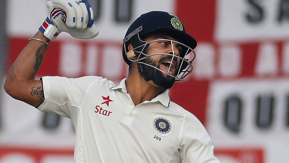 Virat Kohli and India scored an eight-wicket win over England. (AAP)