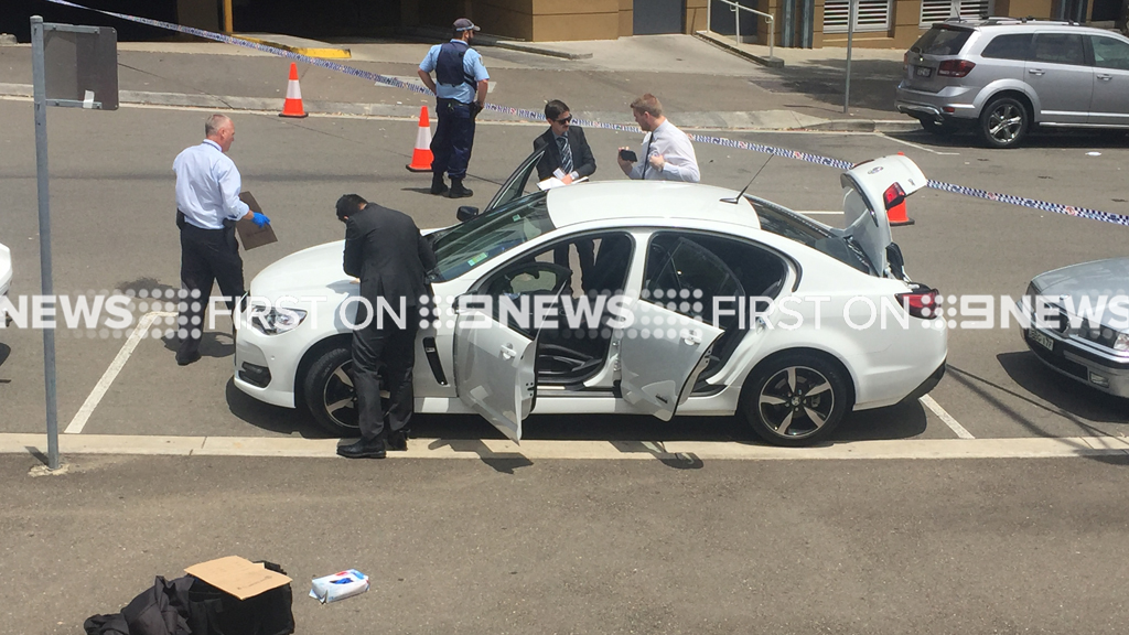 Police search a car during the operation. (Supplied)