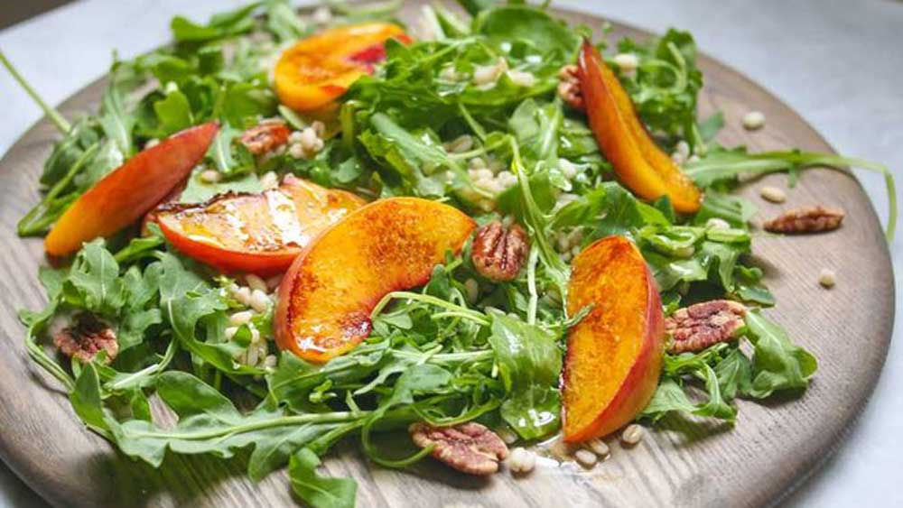 Dan Churchill's charred summer peach salad