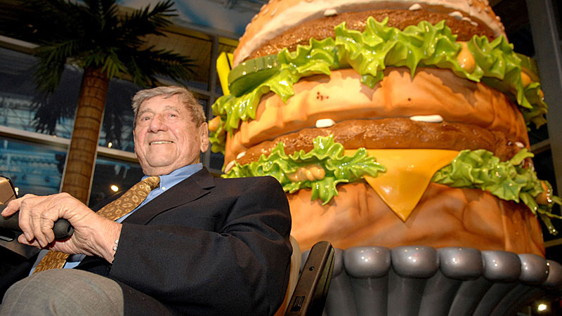 """Michael """"Jim"""" Delligatti  got permission to try his new burger in 1967 and sales jumped 12 percent. (AAP)"""