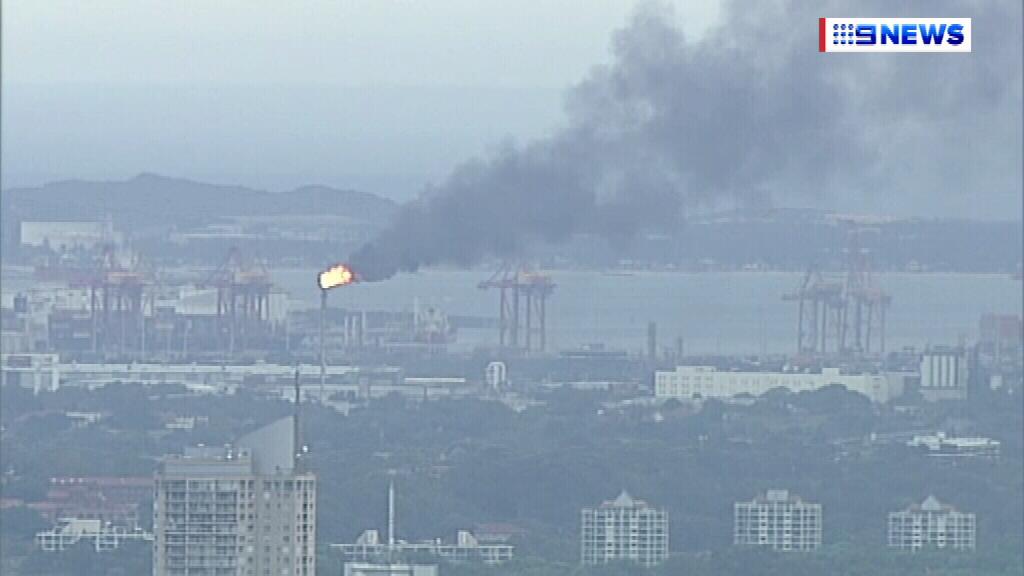 Thick smoke over the area. (9NEWS)
