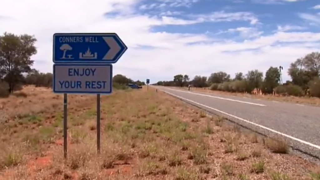 The allegedly unprovoked attack occurred at a remote rest stop. (9NEWS)
