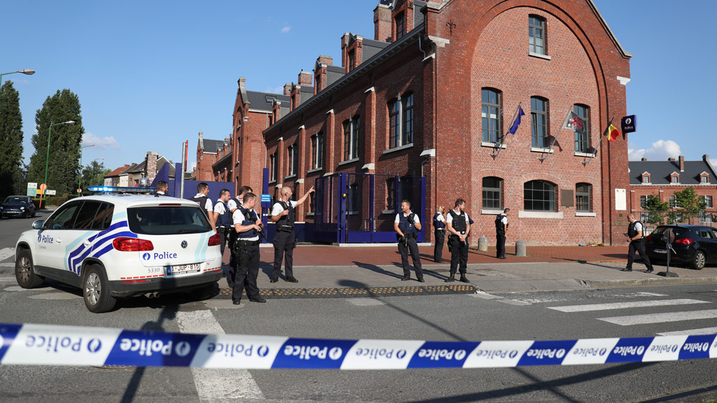 Two charged with terrorism over Belgian machete attack