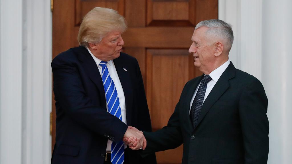 Donald Trump will choose retired Marine General James 'Mad Dog' Mattis for secretary of defense