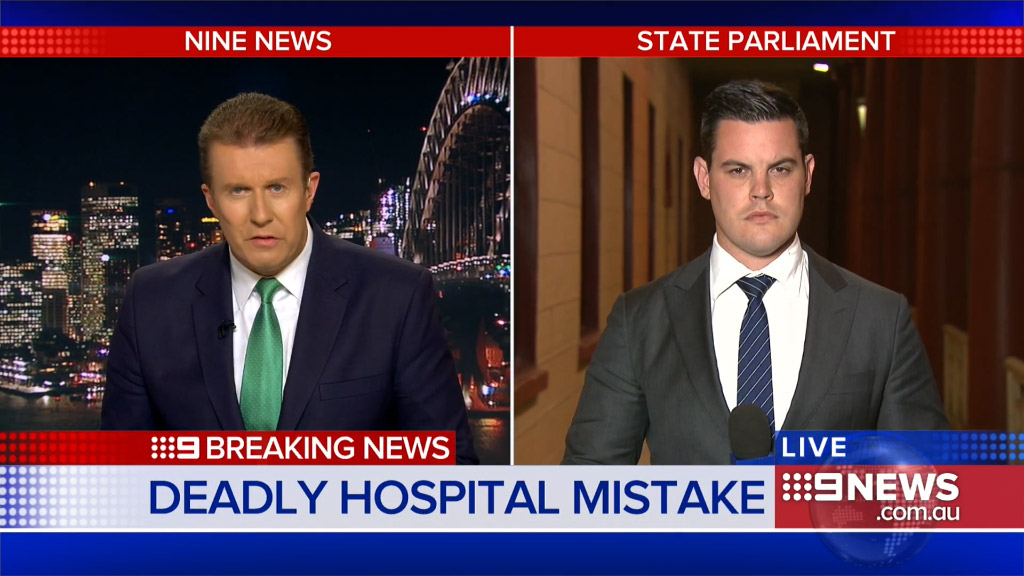 Chris O'Keefe revealed baby John Ghanem tragically died when he was accidentally administered nitrous oxide. (9NEWS)