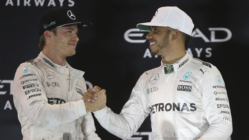 With Nico Rosberg gone, who will partner Lewis Hamilton next year? (AAP)