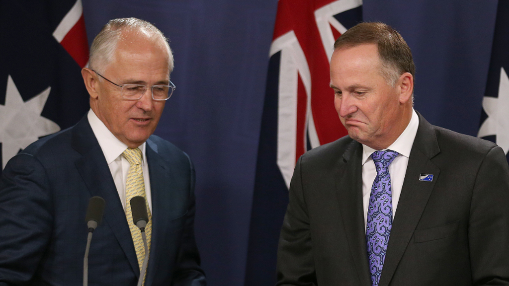 Australian Prime Minister Malcolm Turnbull with John Key earlier this year. (AAP file image)