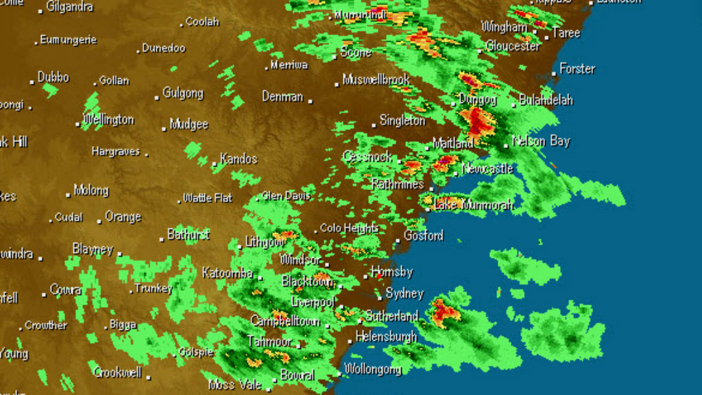 Storm activity over parts of NSW. (Weatherzone)