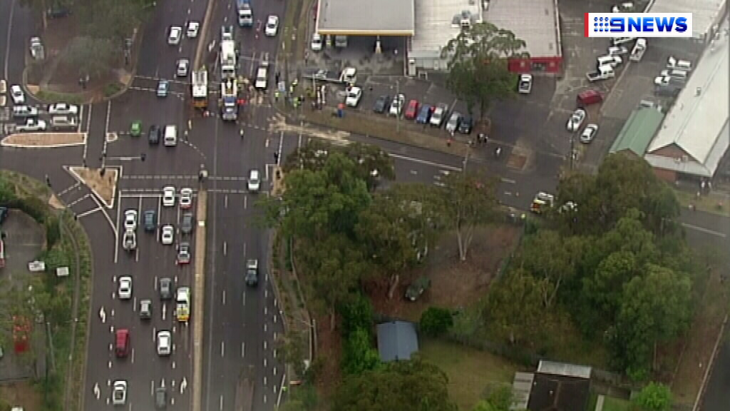 Lengthy traffic delays. (9NEWS)