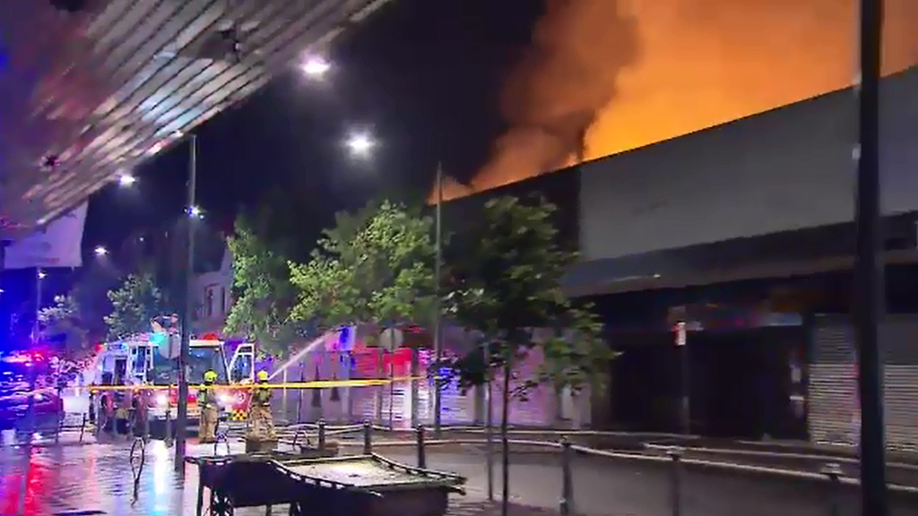 Firefighters spent hours working to put out the fire. (9NEWS)