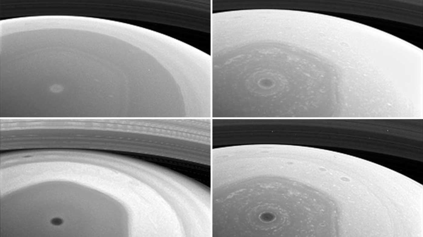 Close-up images of Saturn from the Cassini spacecraft. (NASA)