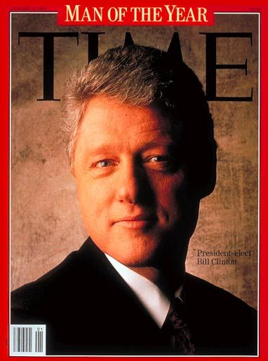 "Former President Bill Clinton's ""Man of the Year"" cover sparked controversy for the placement of the letter ""M"". (TIME Magazine)"