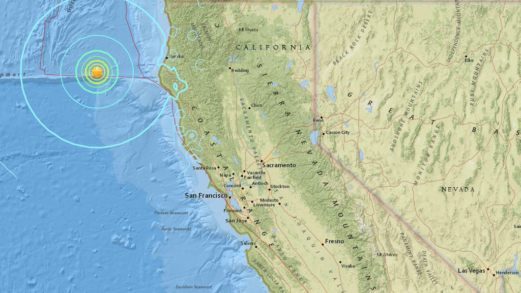 Strong quake strikes off northern California, no tsunami threat