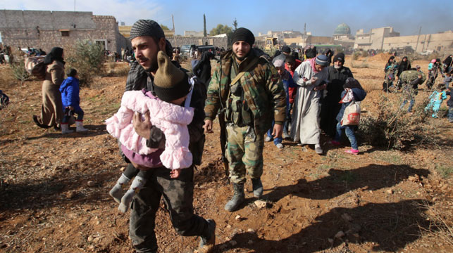 Syrian troops shell Aleppo rebel enclave