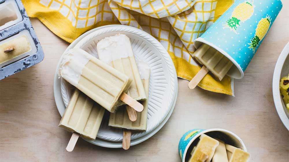 Pina colada popsicles recipe