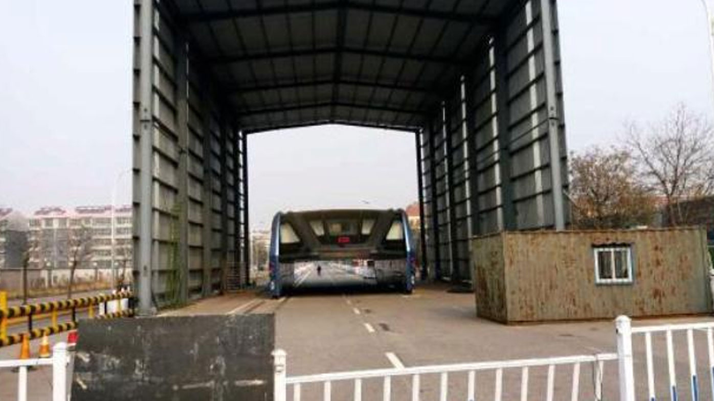 'Futuristic' Chinese raised bus prototype gathering dust since test run four months ago