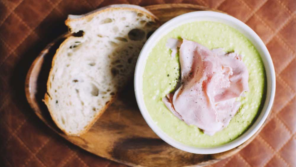 Jared Ingersoll pea and ham soup recipe