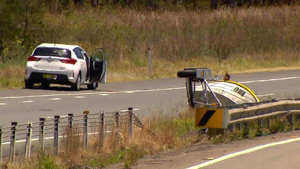 Man critically injured after car crashes into trailer in Port Stephens