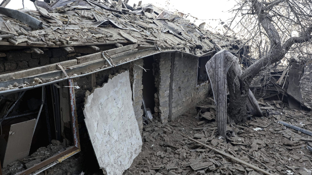 Homes were destroyed in the blast. (AFP)