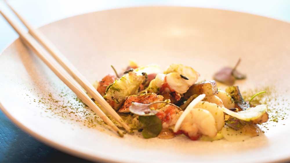 Marron with nashi pear and avocado by Sokyo at The Star