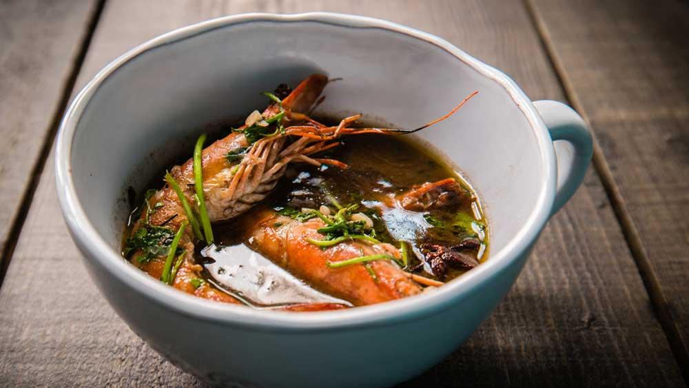 Rich shrimp (prawn) broth, iStock