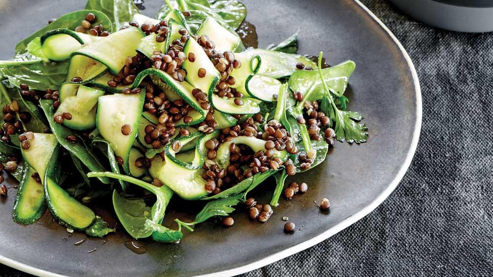 Puy lentil and zucchini salad by Emma Ellice-Flint