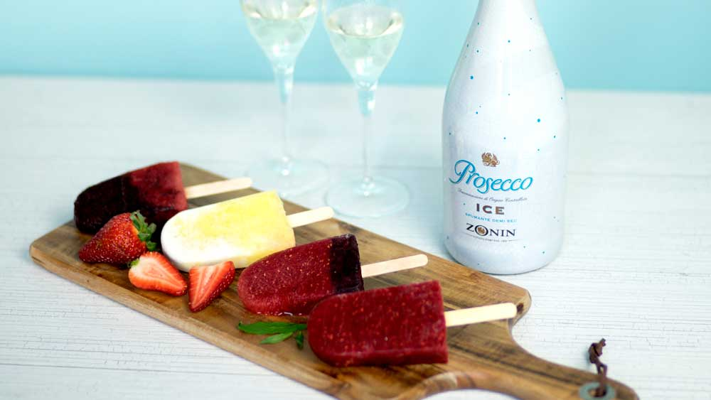 Zonin prosecco ice pops