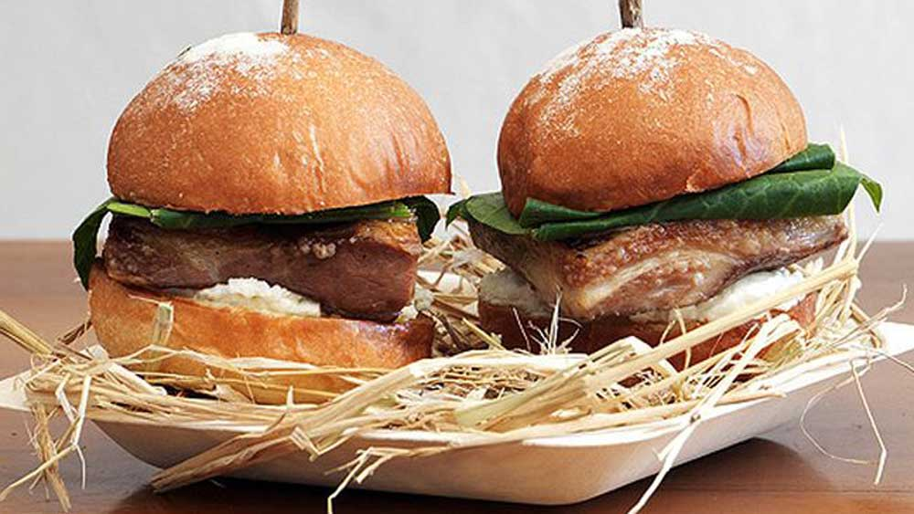 Biota's lamb belly sliders