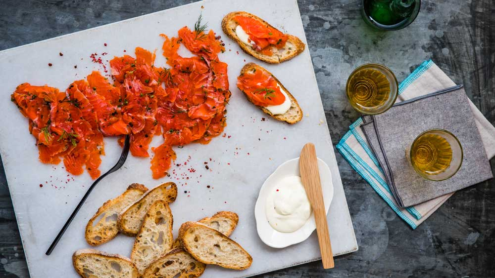 The Fulton family's fennel and pink peppercorn gravlax