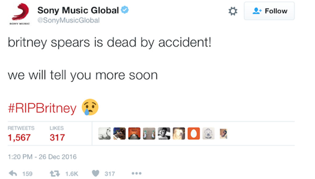 Sony has apologised to Spears and her fans. (Twitter)