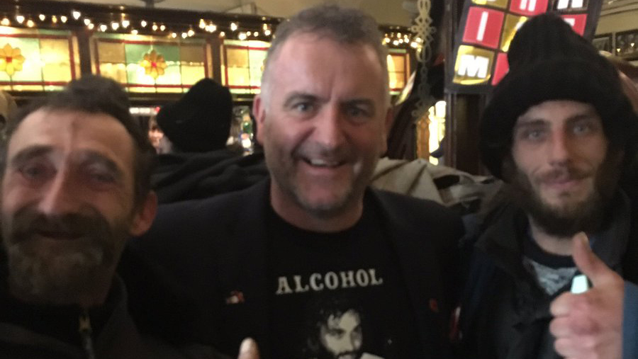 Pub landlord Sean Brett said the best part of the event was socialising with the locals.  (Twitter/ Old Nags Head)