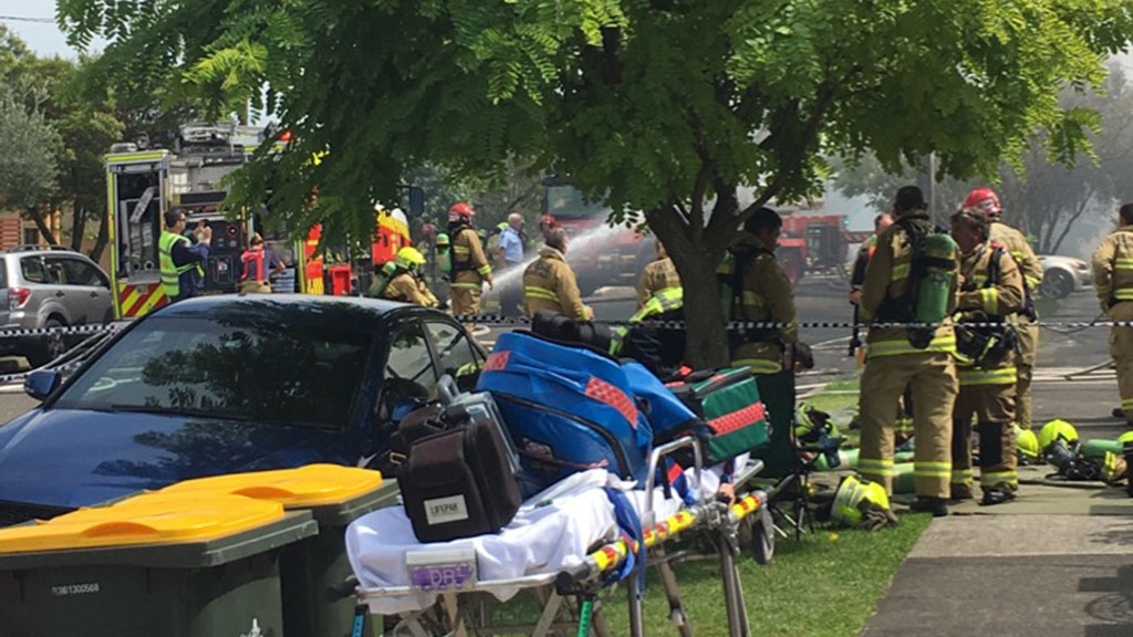 Emergency services rushed to the scene. (Supplied: Bernadette Habkouk)