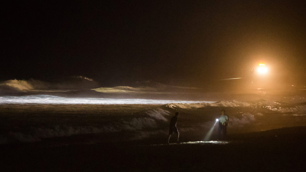 Emergency services were called to the southern end of Maroubra beach just after 8.30pm. (Sage Barreda/Supplied)