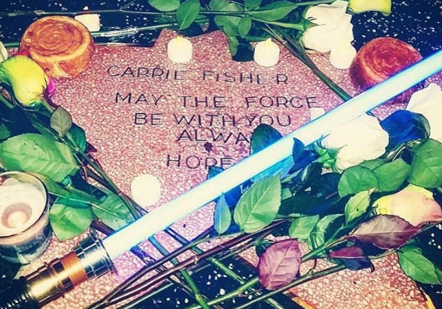 Grieving Carrie Fisher fan adds her to Hollywood's Walk of Fame