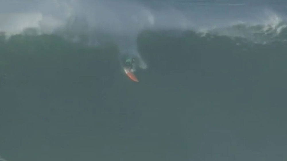 British surfer lucky to survive big wave