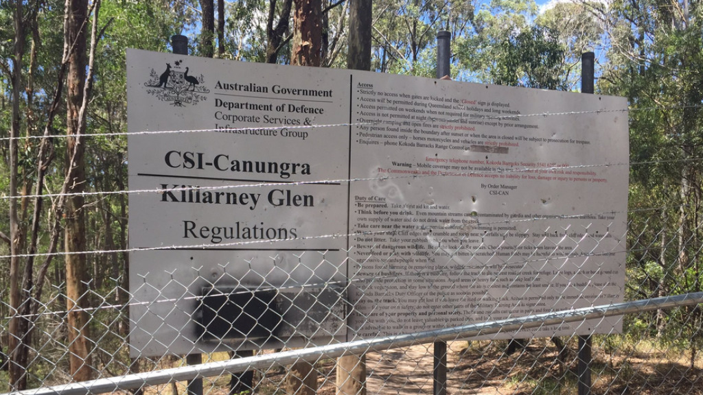 Killarney Glen is a well-known jumping spot. (9NEWS)