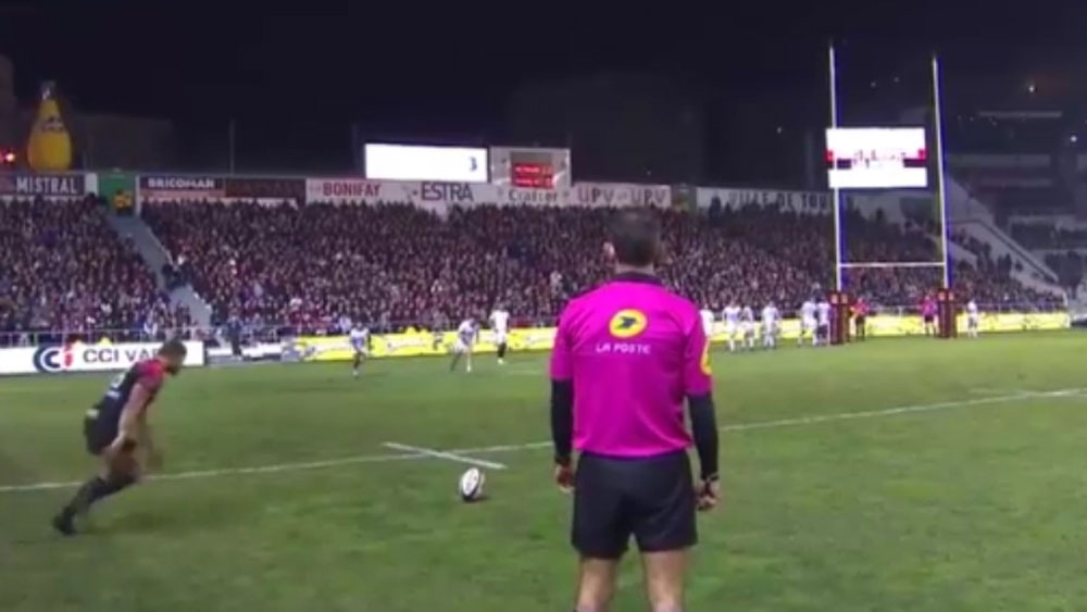 Rugby goalkicker fails to use the force