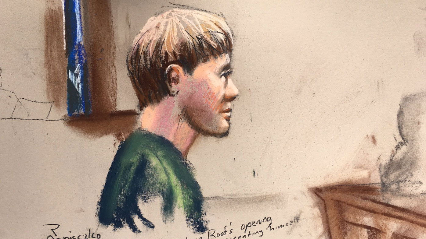 A court sketch of Dylann Roof. (AAP)