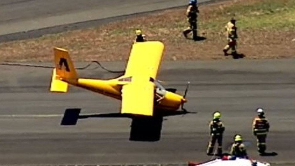 An aircraft in distress has landed safely at Moorabbin Airport in Melbourne's south-east. (9NEWS)