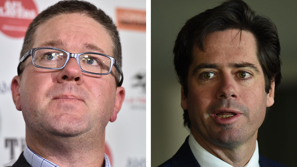 Paul Marsh and Gillon McLachlan. (AAP)