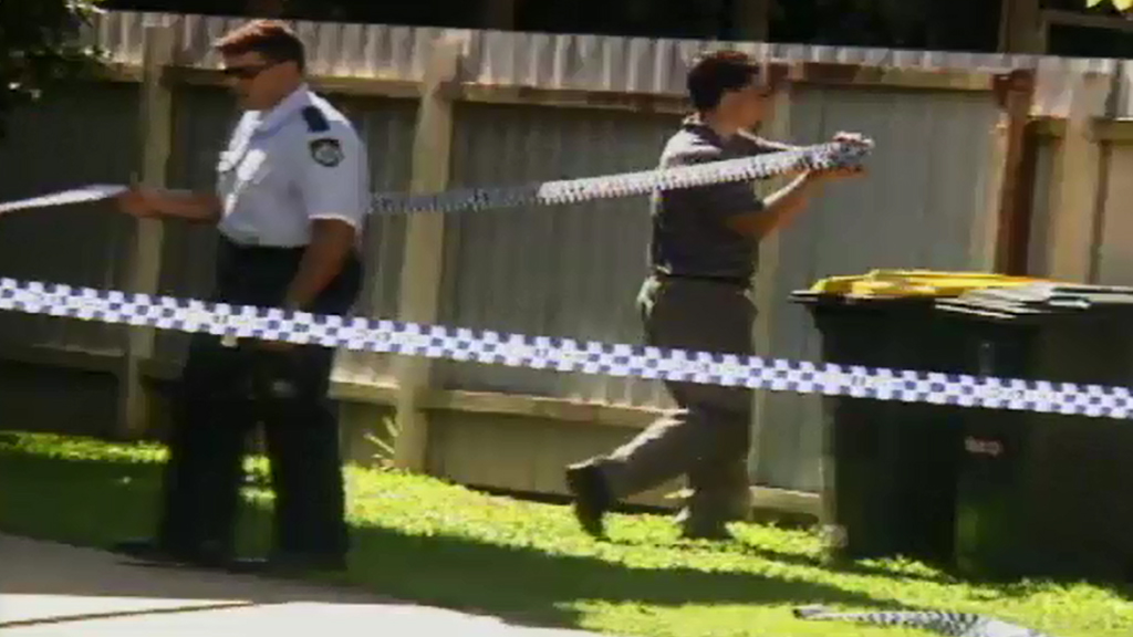 Police at the scene in Cairns in May 1996. (9NEWS)