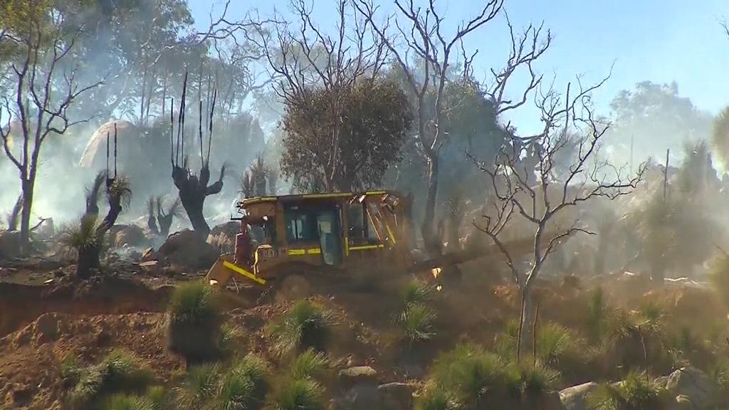 The bushfire in Upper Swan. (9NEWS)