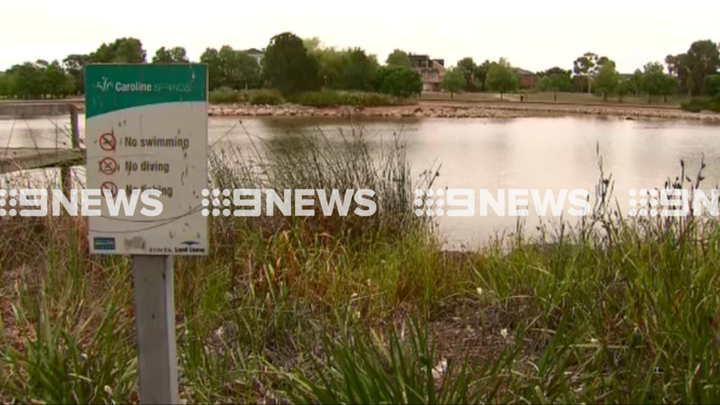 Melbourne lake drained as police investigate 'air traffic interference'