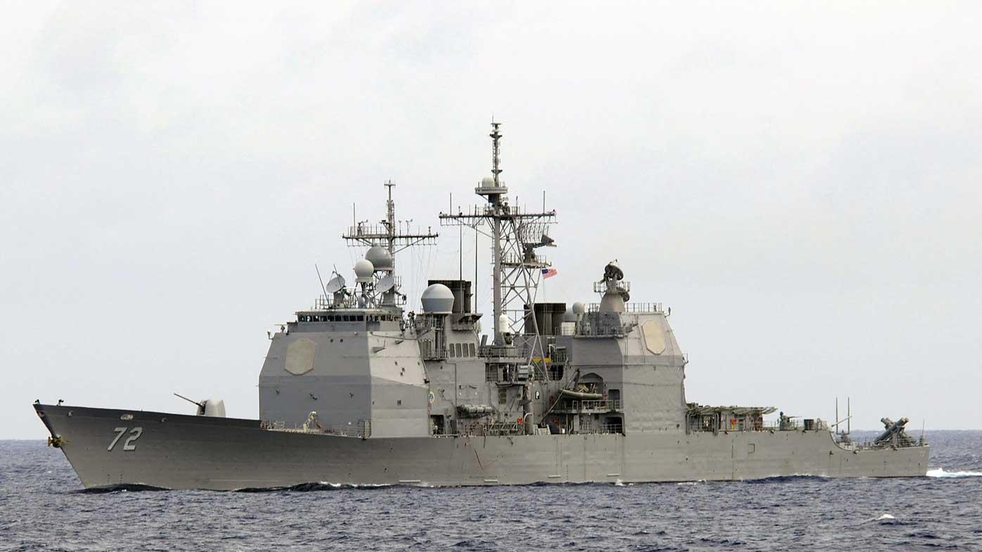 US destroyer fires warning at Iran vessel