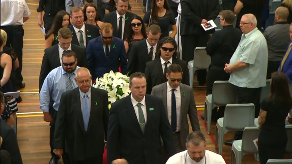 Hundreds farewell former NRL player Chad Robinson in Sydney